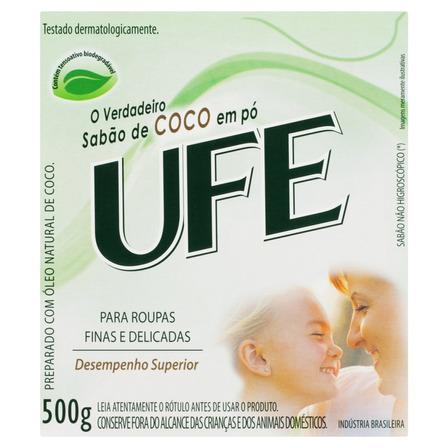 Sabão em pó Ufe Coco caixa 500g