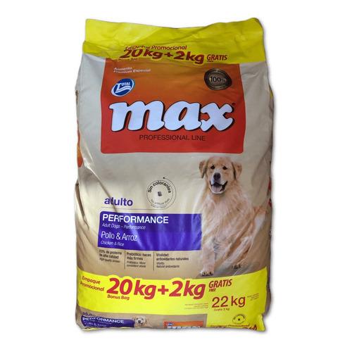 Max Performance Adulto Pollo 20kg Con Snacks Deliciosos