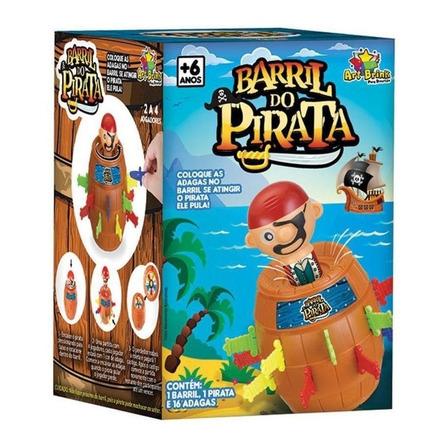Jogo de mesa Barril Pirata Médio Art Brink