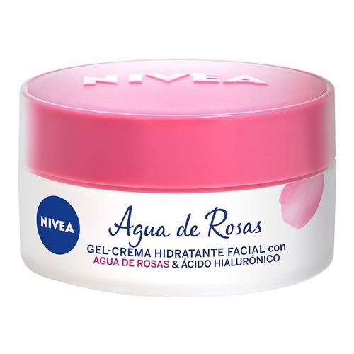Gel Facial Nivea Agua De Rosas Y Ácido Hialurónico 50 Ml