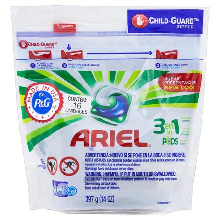 Sabão em cápsula Ariel Power Pods pouch 397g