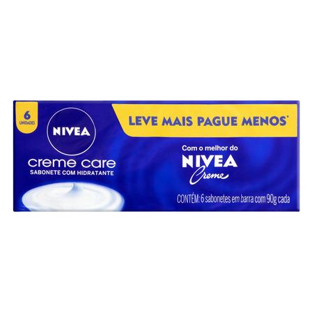 Sabão em barra Nivea Hidratante Creme Care de 90 g pacote x 6