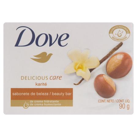 Sabão em barra Dove Óleo de Karité e Baunilha Delicious Care de 90 g