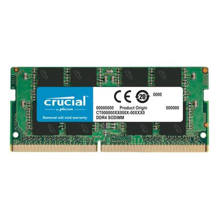 Memória RAM color Verde  16GB 1x16GB Crucial CT16G4SFRA266