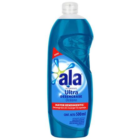 Detergente Ala Ultra Océano semi concentrado en botella 500mL