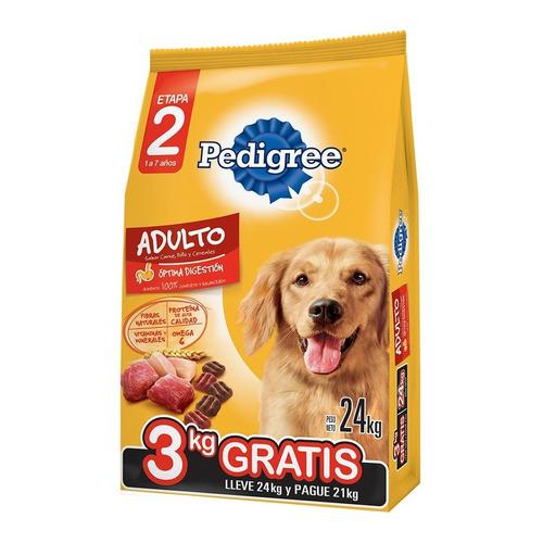 Pedigree Adulto Carne Pollo Y Cereales X 21 +3 Kg