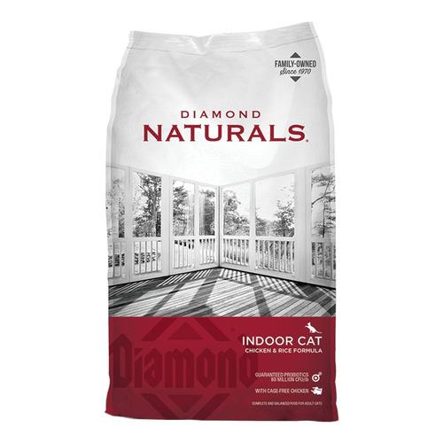 Alimento Diamond Naturals Indoor Cat para gato adulto sabor pollo/arroz en bolsa de 2.72kg