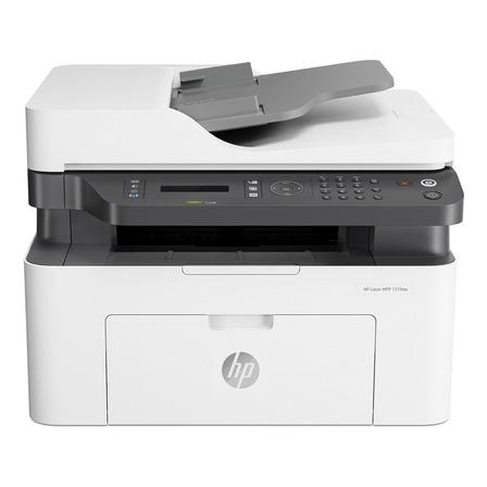 Impresora multifunción HP LaserJet 137fnw con wifi 220V - 240V blanca y negra