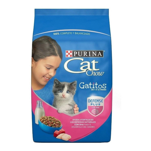 Alimento Cat Chow Defense Plus para gato de temprana edad sabor mix en bolsa de 1.5kg