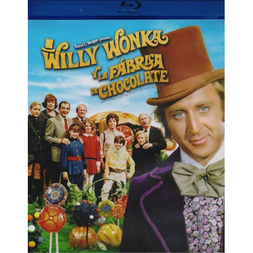 Willy Wonka Y La Fabrica De Chocolate 1971 Pelicula Blu-ray
