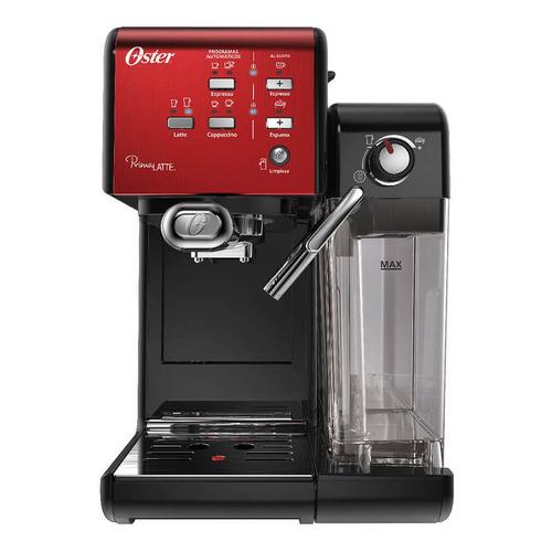 Cafetera Oster PrimaLatte BVSTEM6701 automática candy apple red y negra para expreso y cápsulas monodosis 220V