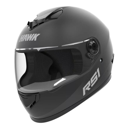 Casco para moto integral Hawk RS1  negro mate talle L