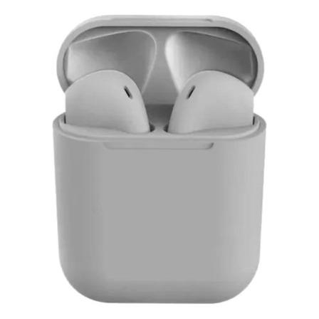 Fone de ouvido sem fio i12 TWS cinza