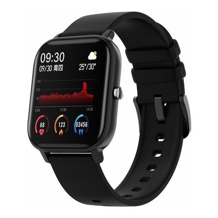 """Smartwatch Colmi P8 1.4"""" caja de  aleación  black malla  black de  silicona"""