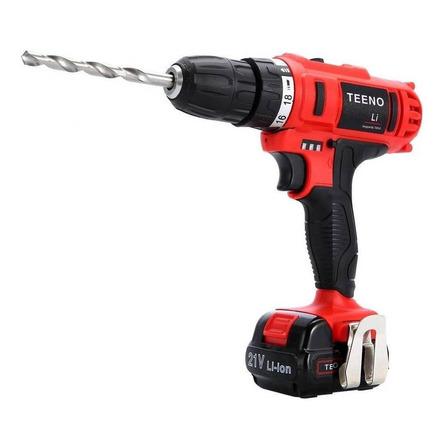 Taladro eléctrico  destornillador Teeno 5816-35 inalámbrico 1550rpm 50Hz/60Hz rojo 21V