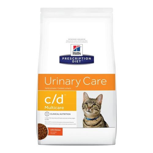 Alimento Hill's Prescription Diet Urinary Care c/d para gato adulto sabor pollo en bolsa de 1.8kg