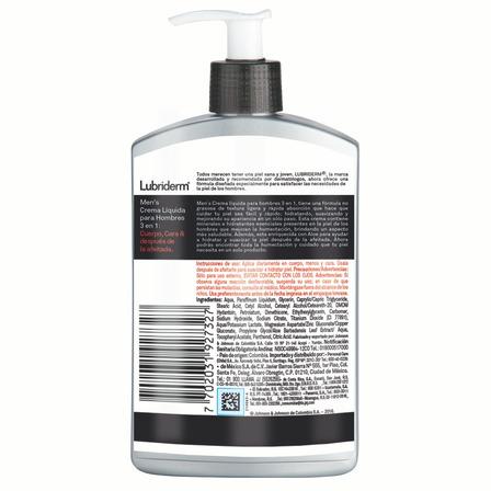 Crema líquida Lubriderm 3 in 1 Men en botella 400ml