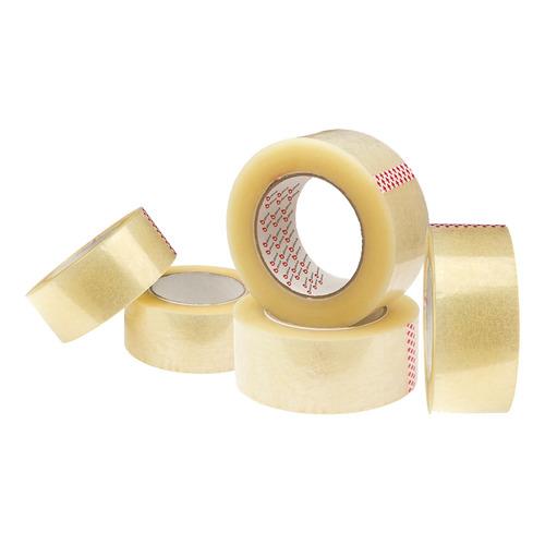 Cinta Adhesiva De Empaque Ancha Transparente 100 M. Pack X 5