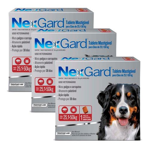 Pulgas Garrapatas Pastilla Nexgard - Perros De 25 A 50kg X3
