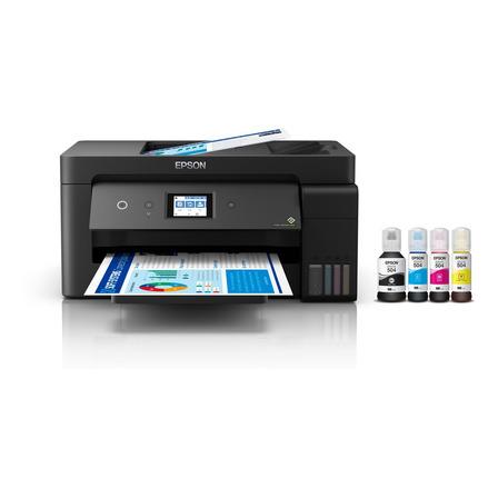 Impresora a color multifunción Epson EcoTank L14150 con wifi negra 100V/240V