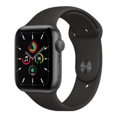 Apple Watch  SE (GPS) - Caixa de alumínio space gray de 44 mm - Pulseira esportiva black