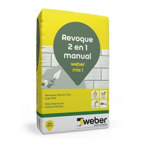 Revoque Interior Mix 2 En 1 Weber 30 Kilos Terminaciones Mm