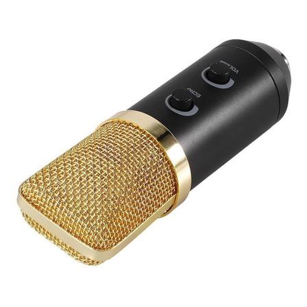 Microfone Lorben BM100FX condensador  cardióide preto/dourado
