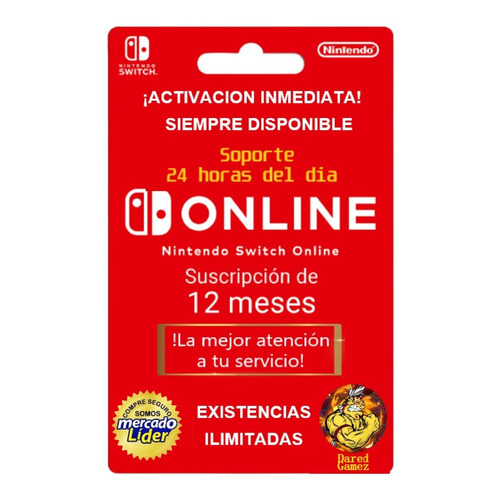 N. Switch Online Activacion Por 12 Meses (familiar)