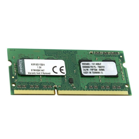 Memória RAM 4GB 1x4GB Kingston KVR16S11S8/4 ValueRAM