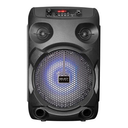 Bocina Select Sound Raven portátil con bluetooth negra