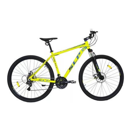 """Mountain bike SLP 25 Pro R29 18"""" 21v frenos de disco mecánico cambios Shimano Tourney TZ31 y Shimano Tourney TZ500 color amarillo"""