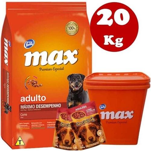Max Máximo Desempeño Adulto 20kg + Contenedor + Regalo