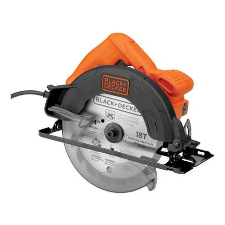 Serra circular elétrica Black+Decker CS1350P 184mm 1350W 50Hz/60Hz laranja 220V