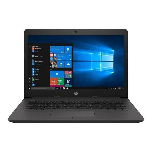 "Laptop HP 240 G7 plateado ceniza oscuro 14"", Intel Celeron N4000  4GB de RAM 500GB HDD, Intel UHD Graphics 600 60 Hz 1366x768px Windows 10 Home"