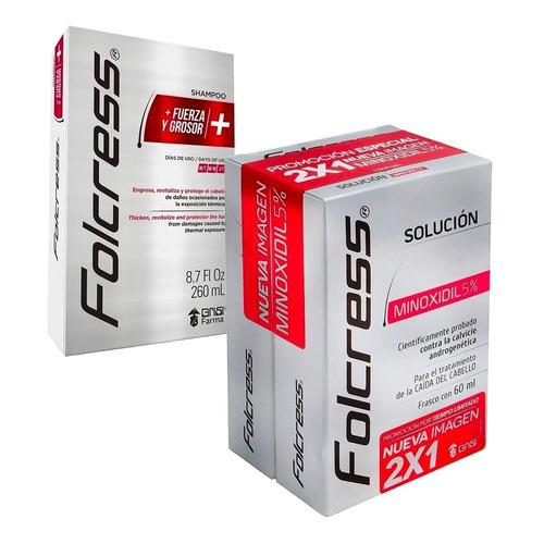 Promo Pack Tratamiento Folcress 60ml Promo 2x1 + Shampoo