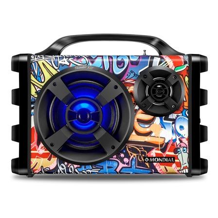 Alto-falante Mondial Multi Connect Thunder XII portátil com bluetooth multicolor 127V/220V