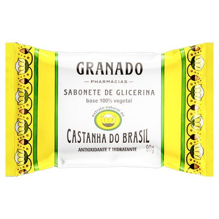 Sabão em barra Granado de Glicerina Castanha do Brasil Terrapeutics de 90 g