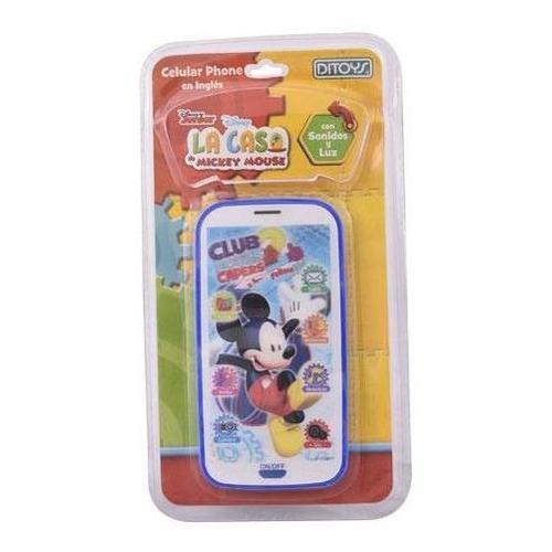 Juguete Celular De Mickey Disney 3d Electronico Y Sonidos