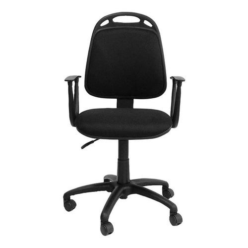 Silla de escritorio de Outlet Diva ergonómica  negra con tapizado de marathon