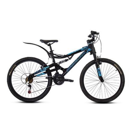 Mountain bike Mercurio Doble Suspensión Kaizer DH R26  2020 R26 21v frenos v-brakes color negro brillante/azul metálico