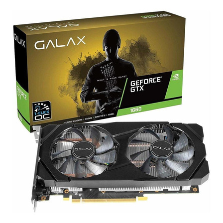 Placa de vídeo Nvidia Galax  GeForce GTX 16 Series GTX 1660 60SRH7DSY91C 6GB