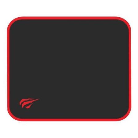 Mouse Pad gamer Havit HV-MP839 de tecido e borracha 200mm x 250mm x 2mm preto/vermelho