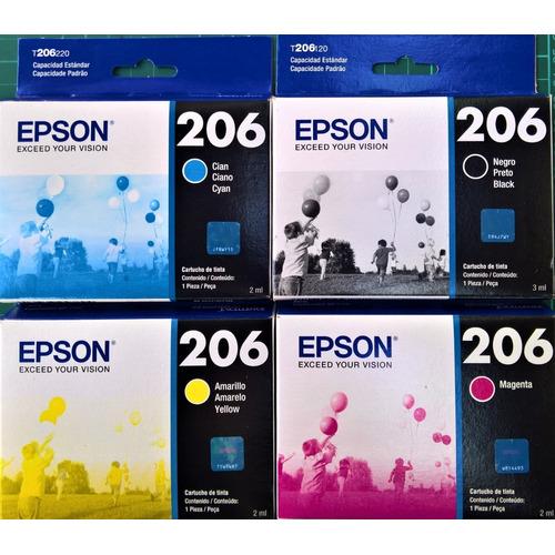 Cartuchos Epson T206 Originales Los 4 Colores Xp-2101