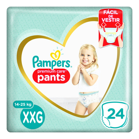 Pañales Pampers Premium Care Pants  XXG 24u