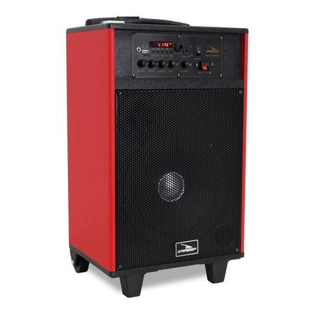 Caixa de som Grasep D-BH3202 portátil com bluetooth vermelha/preta