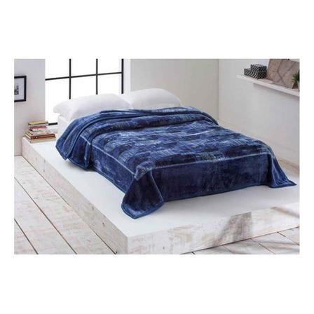 Cobertor Corttex Home Design Cinta Casal azul Marin