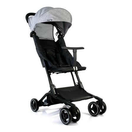Cochecito de bebé Belluno Baby Rimini paragüitas gris con chasis negro