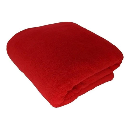 Cobertor Life Tex II Microfibra Casal vermelho liso