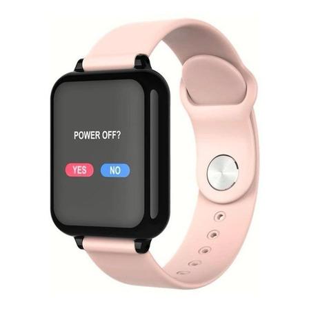 """Smartwatch Haiz Smartwatch B57 1.3"""" caixa  preta pulseira  rosa"""