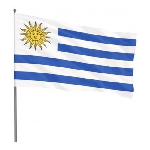 Bandera De Palo De Uruguay 30 X 45 Cm Banderin